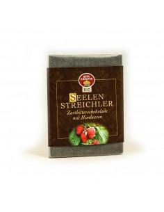 Seelenstreichler Zartbitterschokolade mit Himbeeren BIO